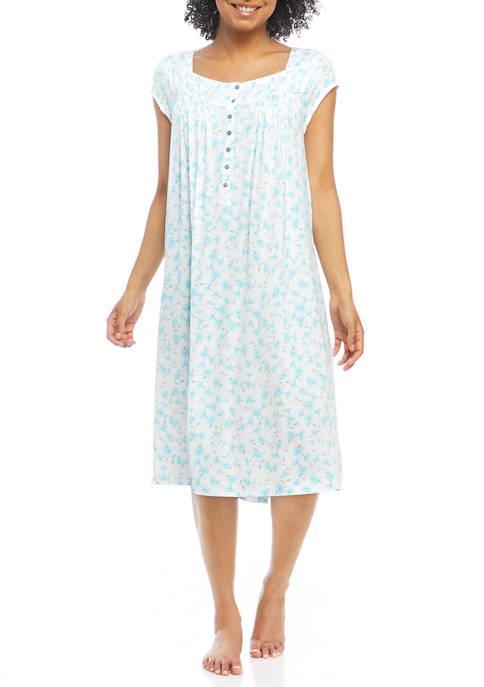 Eileen West Short Sleeve Waltz Knit Nightgown