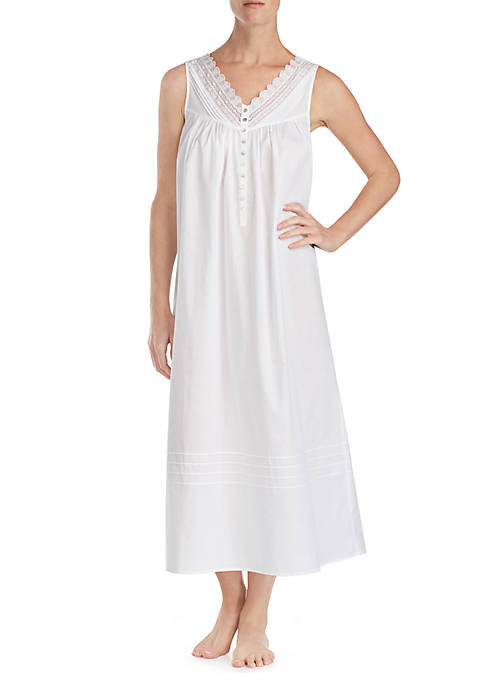 Eileen West Sleeveless V-Neck Lace Lawn Ballet Night