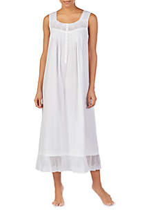 Eileen West Woven Button Up Ballet Nightgown
