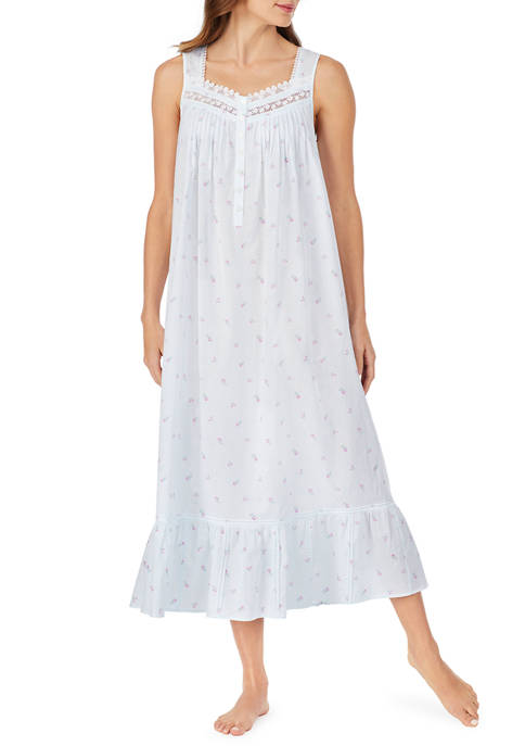 Eileen West Woven Ballet Nightgown with Buttons