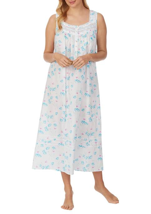 Eileen West 100% Cotton Lawn Sleeveless Ballet Nightgown