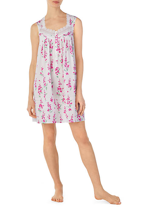 Eileen West Sleeveless Lawn Short Chemise