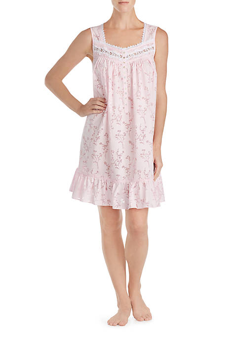 Eileen West Sleeveless Burnout Short Chemise