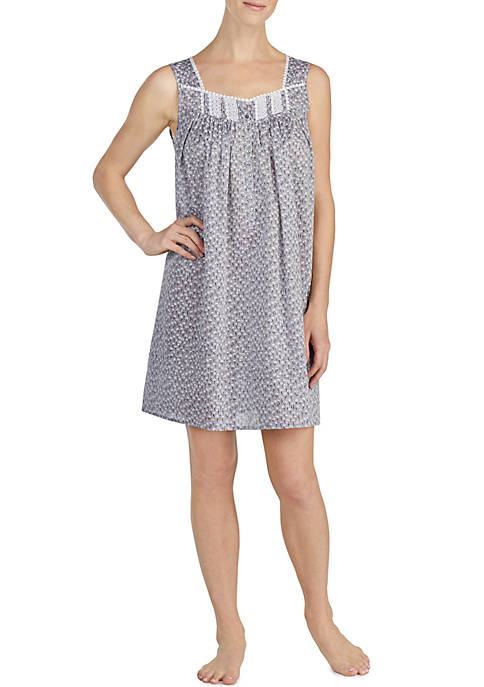 Eileen West Chambray Print Short Gown