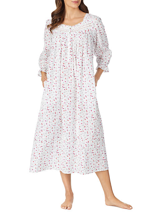 Eileen West Womens Cotton Long Nightgown