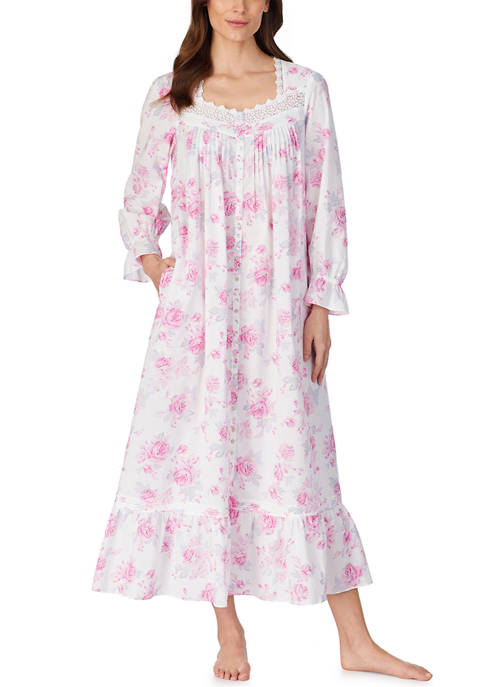 Eileen West Long Sleeve Woven Ballet Nightgown
