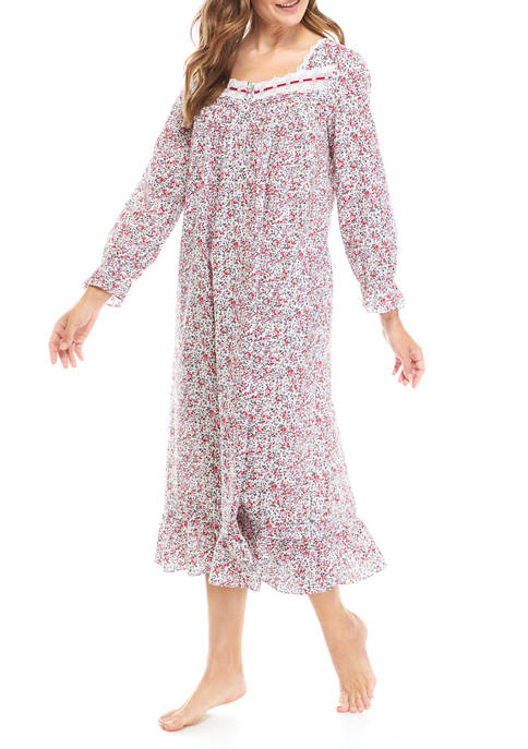 Long Sleeve Woven Ballet Nightgown