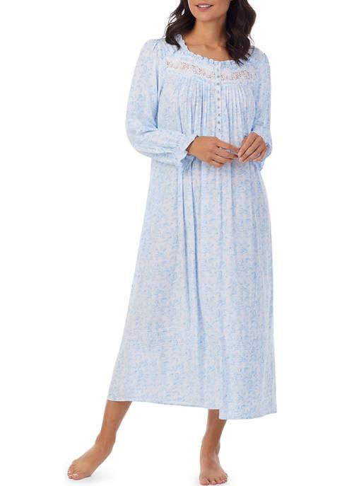 Eileen West Woven Long Sleeve Ballet Nightgown