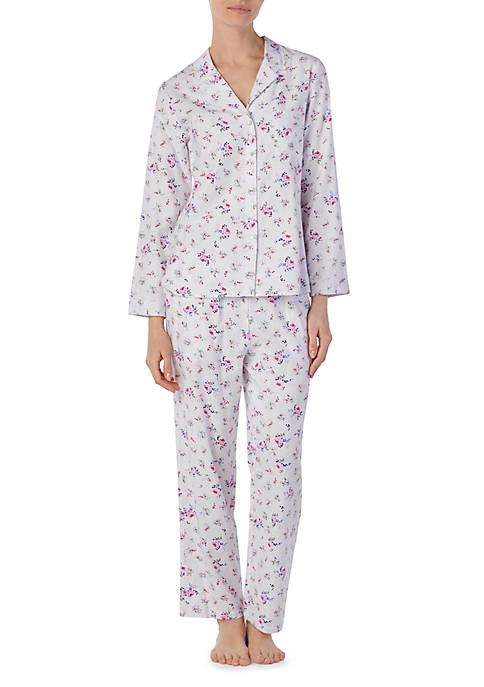 Eileen West Notch Collar Classic Flannel Pajamas