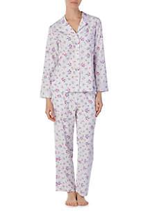 Notch Collar Classic Flannel Pajamas
