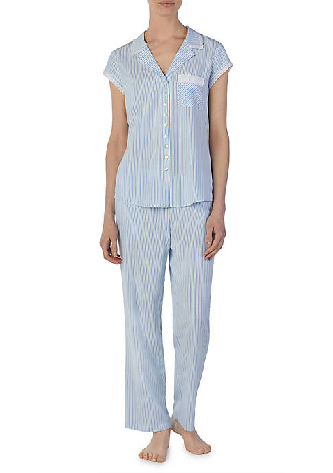 Eileen West 2 Piece Striped Pajama Set