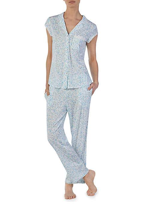 5d5ea47381 Eileen West 2 Piece Floral Print Pajama Set