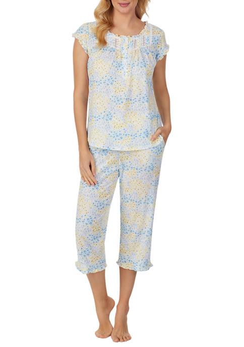 Eileen West Cotton Modal Cap Sleeve Capri Pajama
