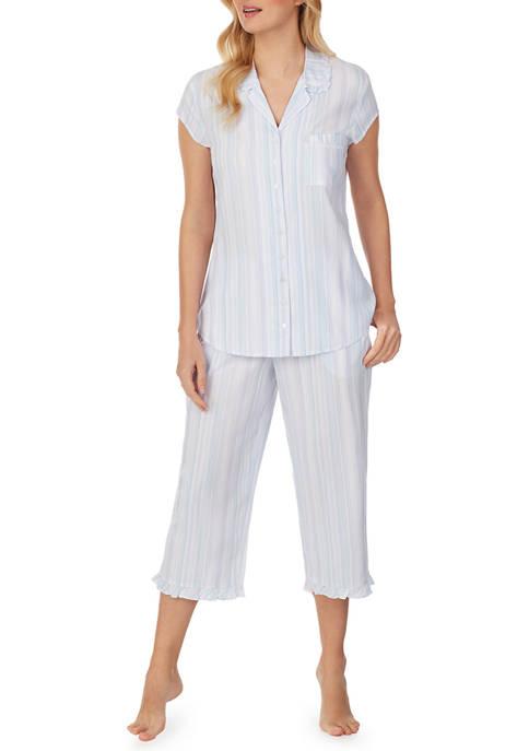Eileen West Cap Sleeve Shirt and Capri Pajama
