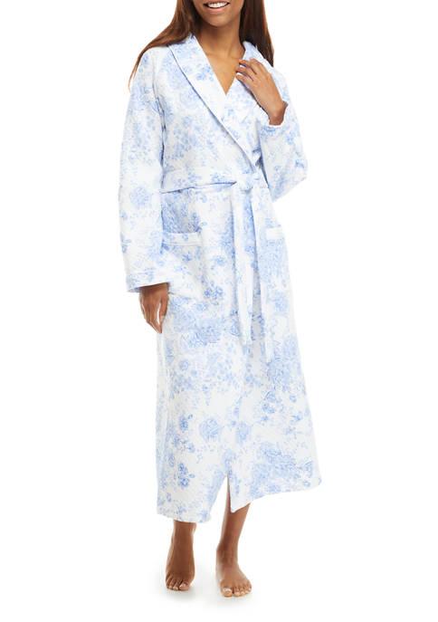 Eileen West Long Sleeve Knit Ballet Wrap Robe