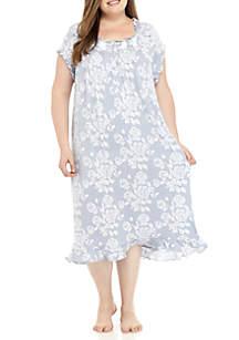 Short Sleeve Modal Waltz Gown