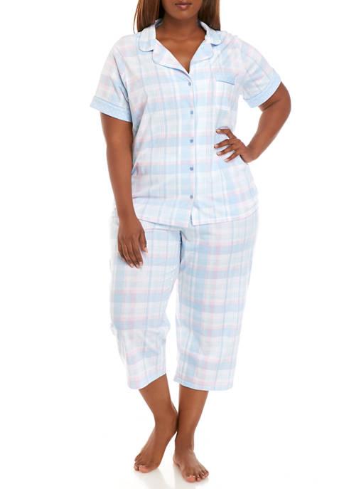 Kim Rogers® Plus Size Notch Collar Short Sleeve