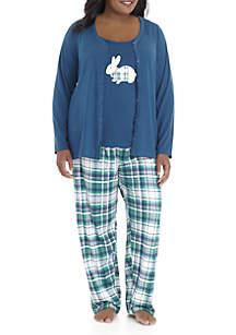 Plus Size 3-Piece Cardigan Set