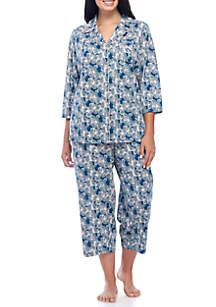 Plus Size 2-Piece Pajama Set
