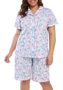 Kim Rogers® Plus Size 2-Piece Bermuda Pajama Set