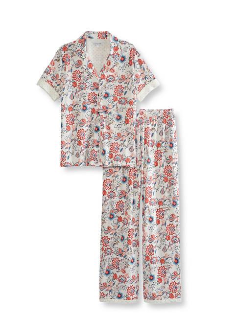 Kim Rogers® 2 Piece Capri Pajama Set
