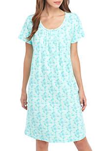 3/4 Sleeve Henley Sleepshirt