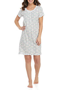 Kim Rogers® Short Sleeve Floral Sleep Gown
