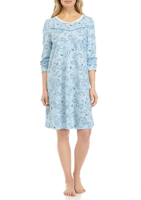 Long Sleeve Sleep Gown