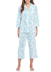 Notch Patchwork Pajama Set