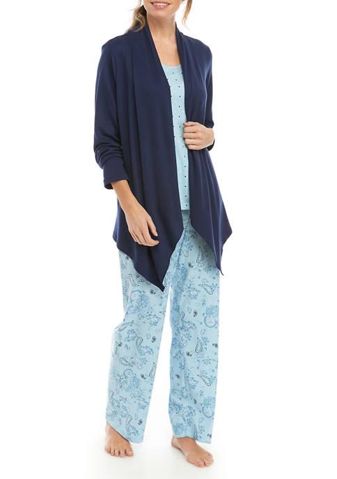 Kim Rogers® 3-Piece Cardigan PJs
