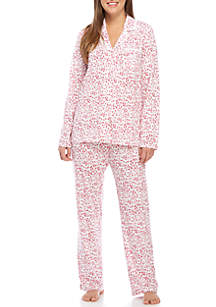Lace Notch Two-Piece Pajama Set