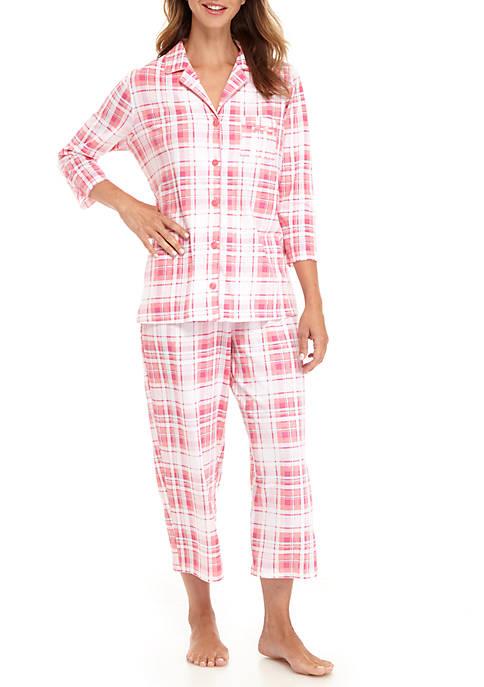 2-Piece Three-Quarter Sleeve Pajama Set