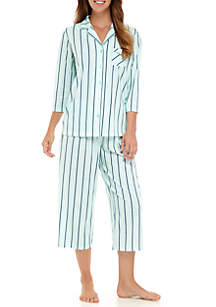 2-Piece Three-Quarter Sleeve Pajama Set