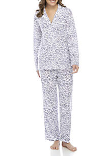2-Piece Lace Notch Pajama Set
