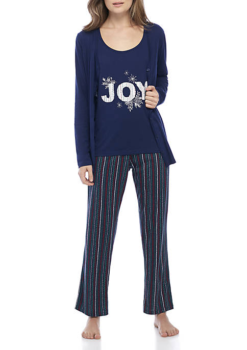 3-Piece Joy Pajama Set