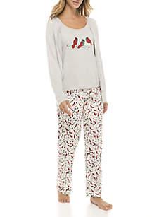3-Piece Cardi Pajama Set