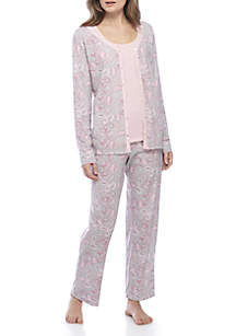 3-Piece Cardigan Pajama Set