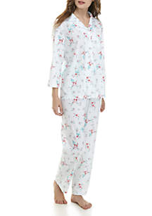 2-Piece Lace Notch Pajama Set