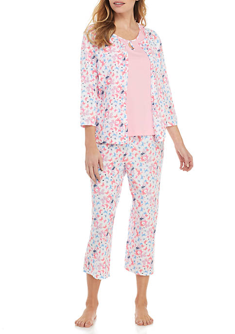 3 Piece Printed Pajama Set