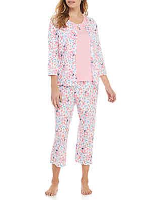 9afa1e68e662 Kim Rogers® 3 Piece Printed Pajama Set ...