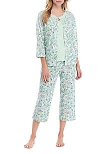 Kim Rogers® 3 Piece Printed Pajama Set