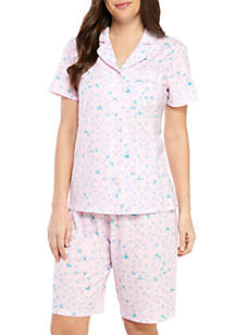 Kim Rogers® Bermuda Notch Collar Pajama Set