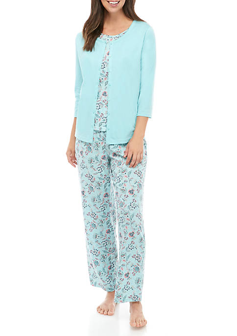 Kim Rogers® 3 Piece Pajama Set