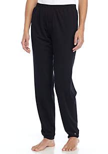 Solid Cuffed Pant with Pockets
