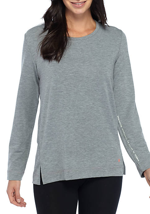 HUE® French Terry Long Sleeve Lounge Top