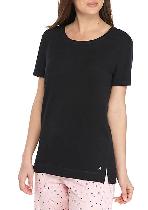 HUE® Short Sleeve Spandex French Terry Tee