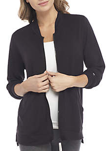 HUE® Long Sleeve Zip Jacket