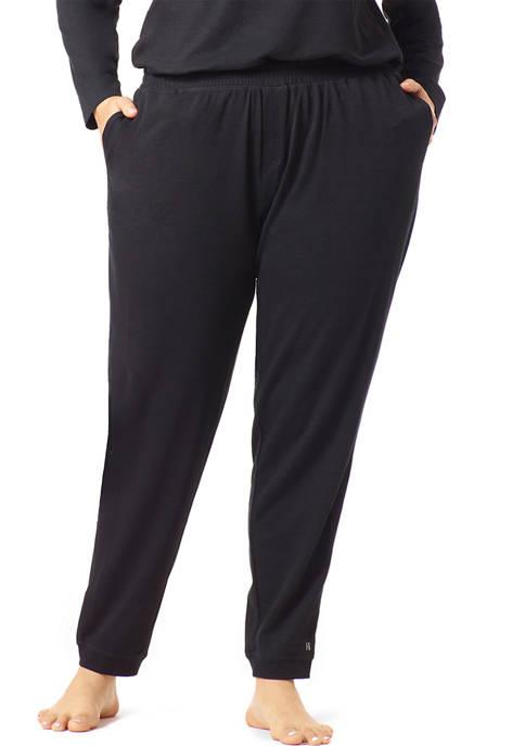 HUE® Plus Size Lounge Cuff Pants
