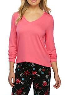Long Sleeve Pink V-Neck