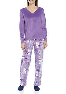 3-Piece Dapper Kitty Fleece Pajama Set